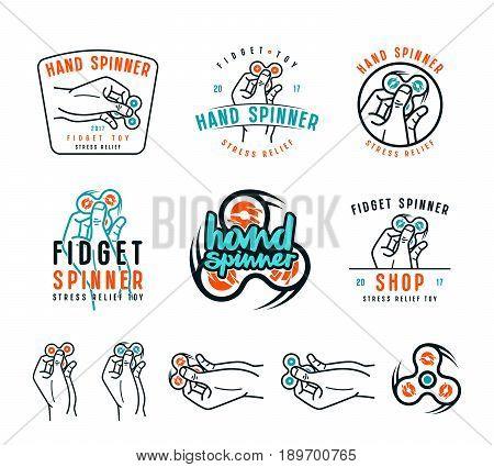 Set Of Hand Spinner Emblems