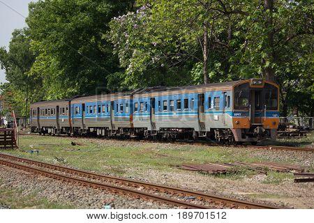 Thn Diesel Railcar At Chiangmai Railway Station