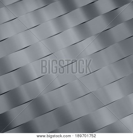 3d illustration of metal abstract bionic futuristic wave structure background