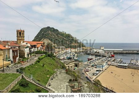 GETARIA / SPAIN -APRIL 15 2017 - Town of Getaria, Basque Country Spain