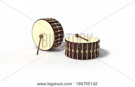 Ramazan drum on background, 3d render working