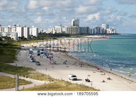 The southernmost tip of Miami Beach in late afternoon (Florida).