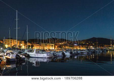 Pleasure Yachts And Motor Boats, Ajaccio Port
