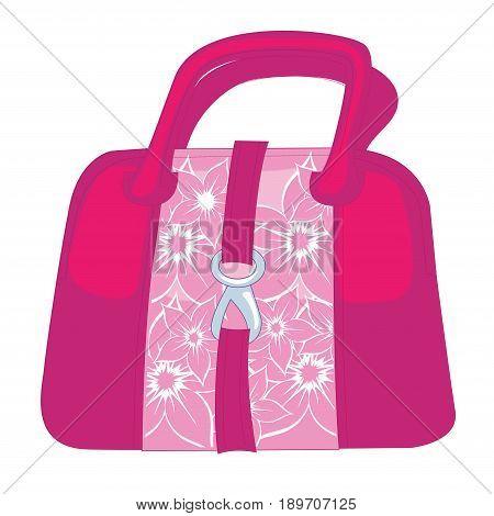 Fashion handbag icon vector hand bag icon isolated fashion sign