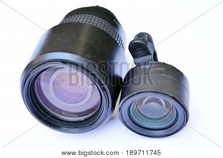 A camera lens (also known as photographic lens or photographic objective) is an optical lens or assembly of lenses used in conjunction with a camera body and mechanism to make images of objects either on photographic film or on other media capable of stor