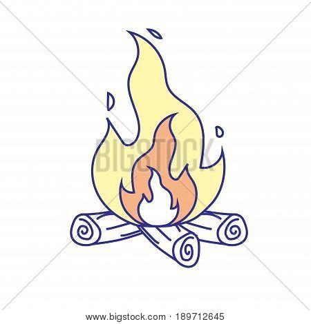 cute firewood to keep warm vector illustration