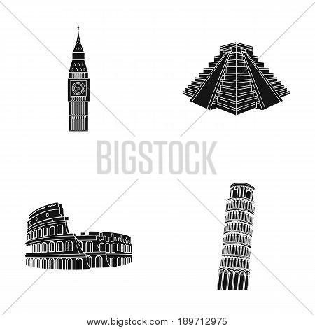 Building, landmark, bridge, stone .Countries country set collection icons in black style vector symbol stock illustration .