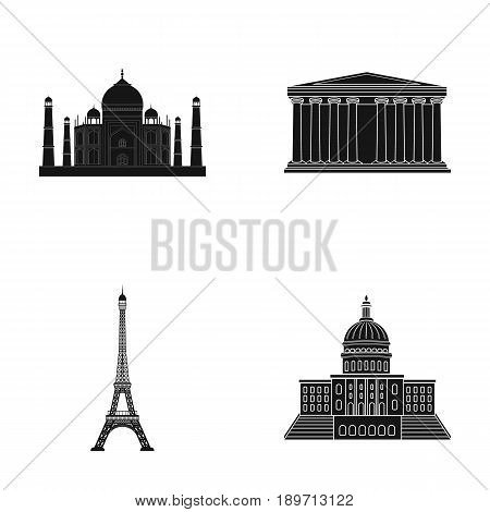 Building, interesting, place, tower .Countries country set collection icons in black style vector symbol stock illustration .