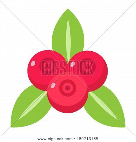 Red currant flat icon, fruit and diet, vector graphics, a colorful solid pattern on a white background, eps 10.