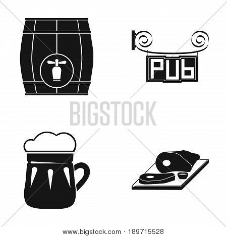 Restaurant, cafe, beer, glass .Pub set collection icons in black style vector symbol stock illustration .