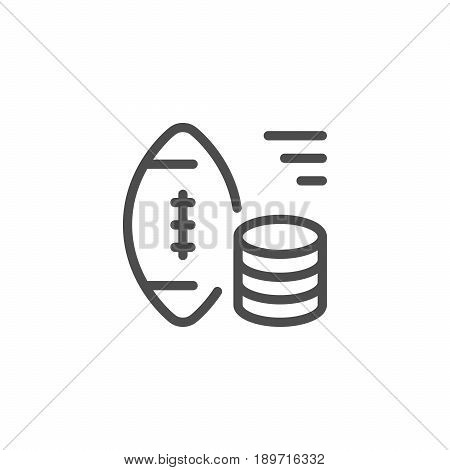 Sports betting line icon isolated on white. Vector illustration