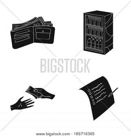 Purchase, goods, shopping, showcase .Supermarket set collection icons in black style vector symbol stock illustration .