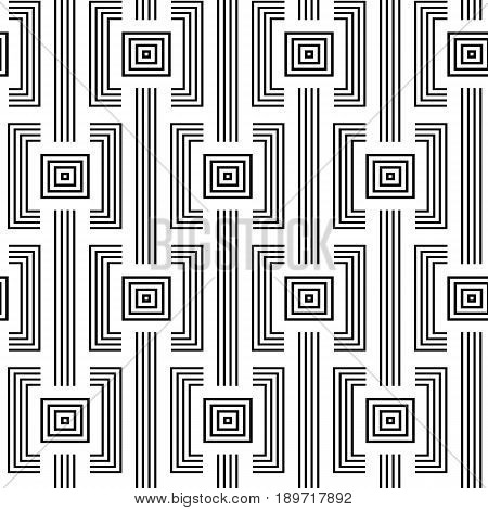 Geometric Squares seamless ornament. Abstract background. Vector Illustration
