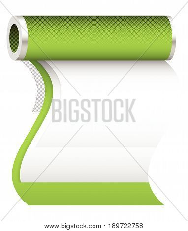 Air Filter On White Background. Vector Illustration.