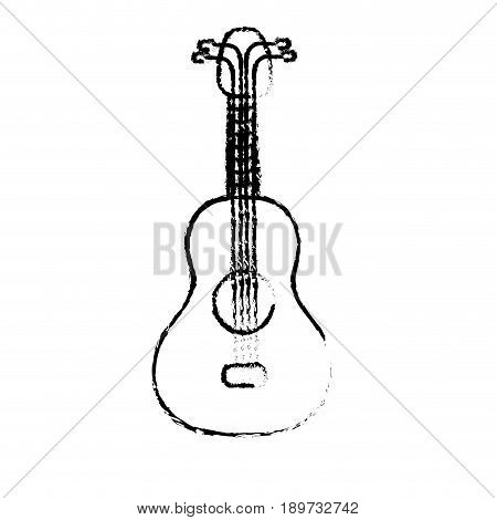 figure acoustic guitar instrument to play vector illustration