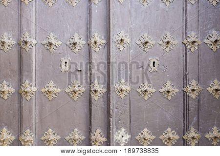 Old Wooden Door Decorated