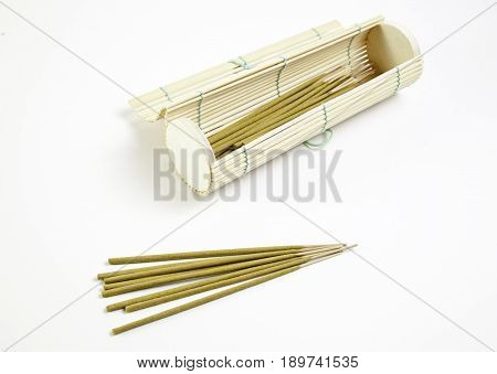 Incense Sticks And Bamboo