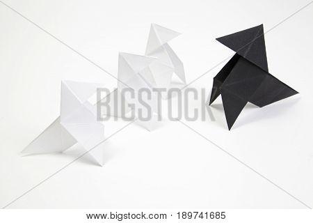 Group Origami Birds