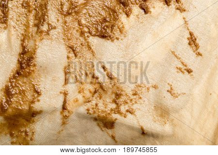 background of dirty cloth in wine filtration