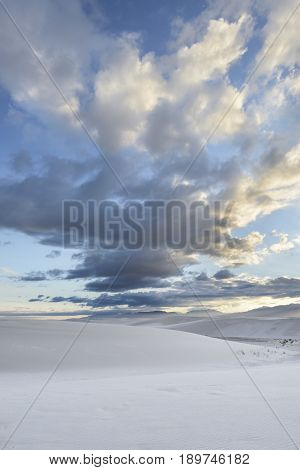 Dramatic Clouds at Sunset Over White Sands National Monument