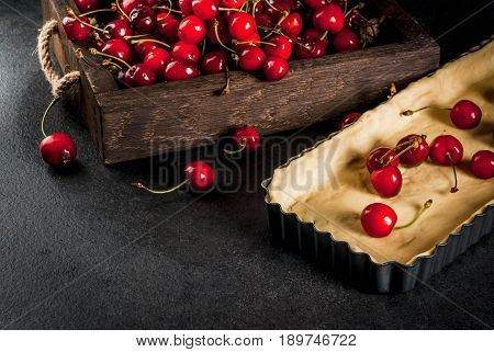 Concept Of Cooking Cherry Pie