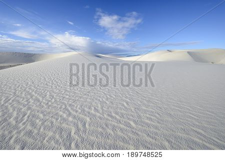White Sand Dunes on Sunny Day - New Mexico