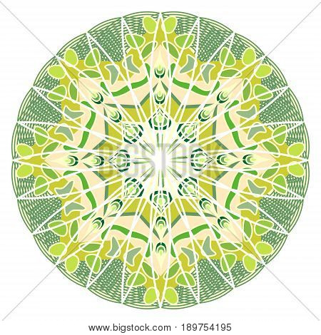 Green mandala for energy and power obtaining mandala for meditation training