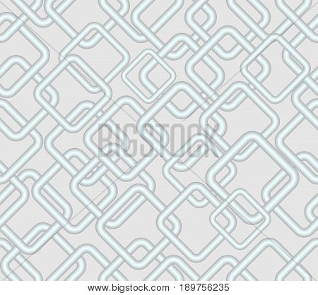 Vector seamless low contrasting background rhomboid metallic patterns on light gray area