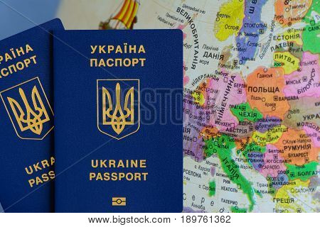 Ukrainian foreign biometric passport for the liberalization of the visa regime.