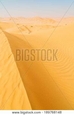 In Oman  Empty Quarter And Outdoor  Sand Dune