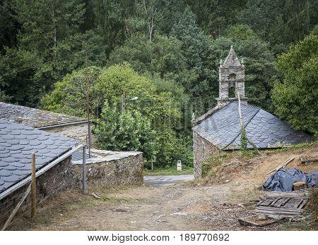 Capela dos Milagres chapel in Gorolfe village, province of Lugo, Galicia, Spain