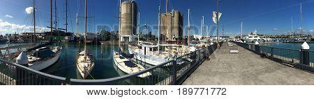 Wynyard Quarter  Wharf In Auckland New Zealand