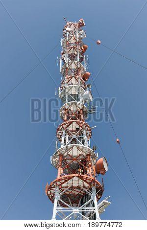 Telecommunication tower at Helgoland island in German Northsea