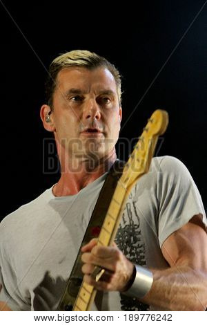 Gavin Rossdale and the band