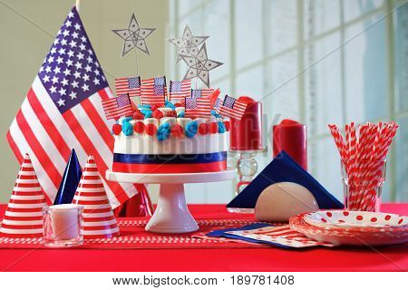 Usa National Holiday Celebration Party Table