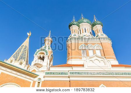 Orthodoxy church in Nice Riviera, Cote d'Azur, France