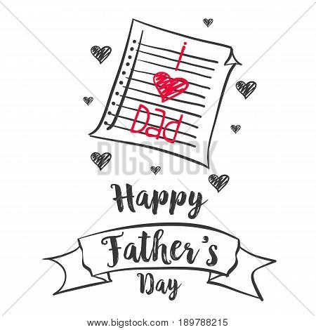 Happy father day vector illustration collection stock