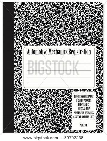 Automotive Mechanics Registration - Service log of auto mechanic