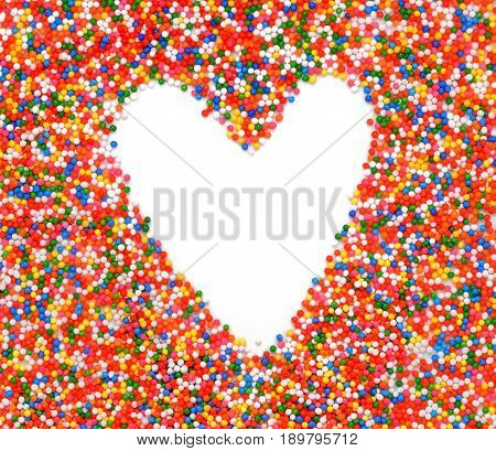 Heart Rainbow topping - multi colorful candy