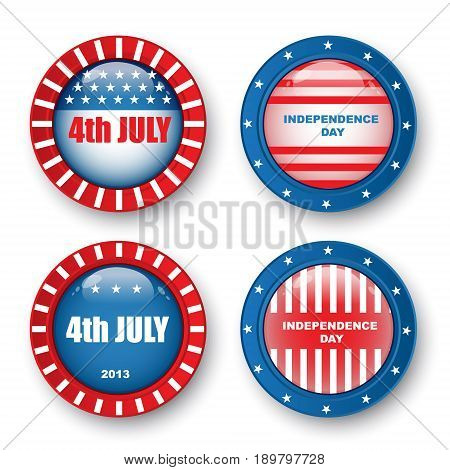 USA Happy Independence Day, 4th of July. Vector Illustration.