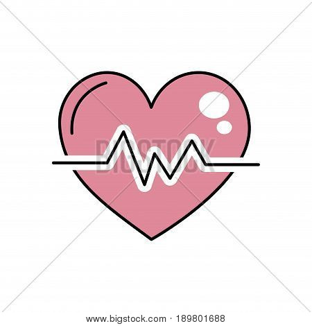 heartbeat to know rhythm cardic and frequency vector illustration