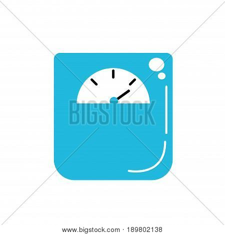 weight machine instrument to measure of kilogram vector illustration