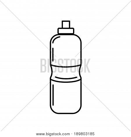 line bottle of water to reshness in the gym vector illustration