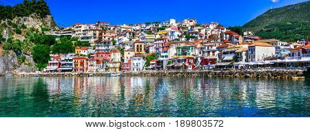 Colorful Greece series - beautiful coastal town Parga