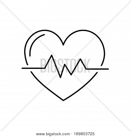 line heartbeat to know rhythm cardic and frequency vector illustration