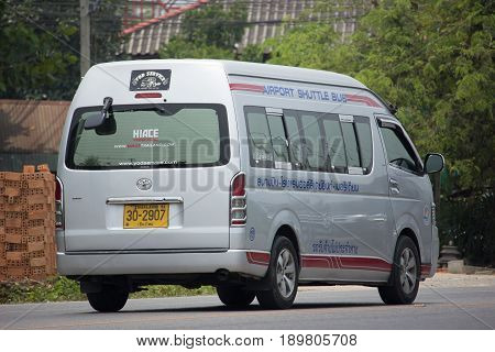 Airport Shuttle Bus Van, Service For Passenger Of Airport From Or To Hotel.