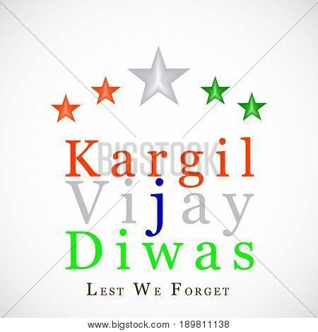 illustration of stars with kargil vijay diwas text