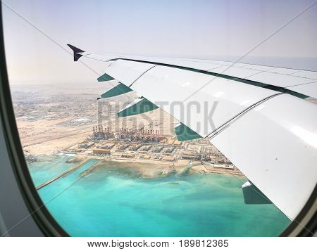 Doha Qatar,  March 17 ,2017  Flying With Qatar Airways At  Hamad International Airport Is The Intern