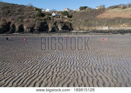 Solva Beach In Pembokeshire, Wales, United Kingdom