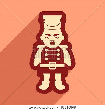 flat icon with long shadow Nutcracker boy